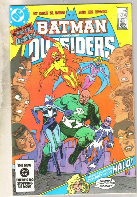 Batman And The Outsiders #9 comic book near mint 9.4