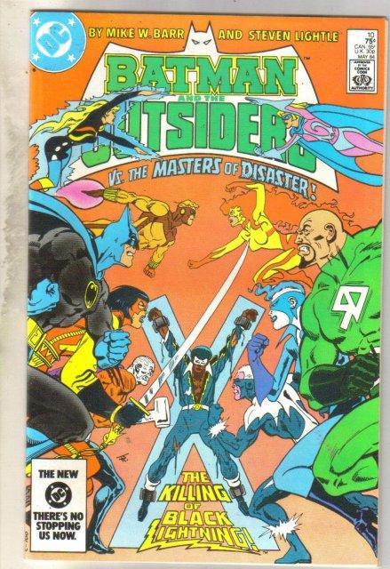 Batman And The Outsiders #10 comic book near mint 9.4