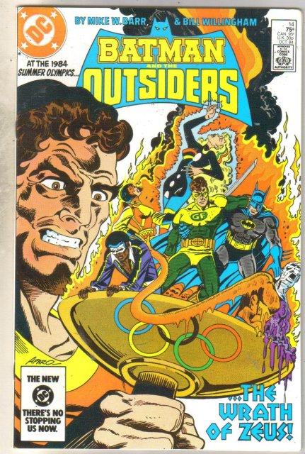 Batman And The Outsiders #14 comic book near mint 9.4