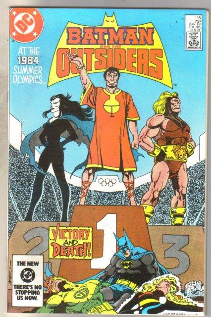 Batman And The Outsiders #15 comic book near mint 9.4