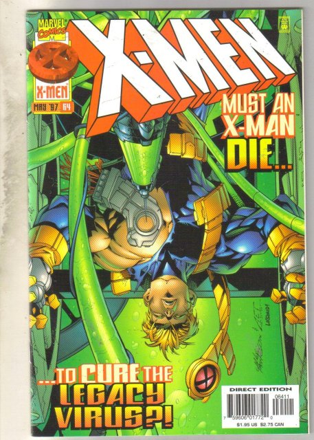 X-Men #64 comic book near mint 9.4