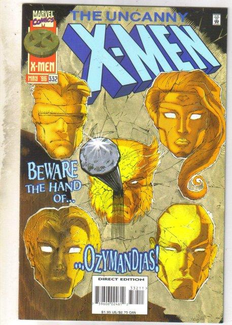 Uncanny X-Men #332 comic book near mint 9.4