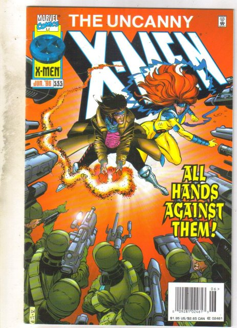 Uncanny X-Men #333 comic book near mint 9.4
