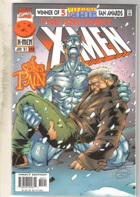 Uncanny X-Men #340 comic book near mint 9.4