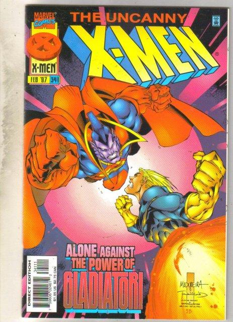 Uncanny X-Men #341 comic book near mint 9.4