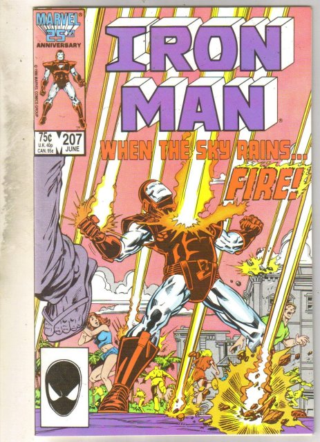 Iron Man #207 comic book near mint 9.4