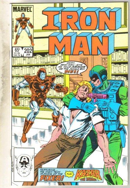 Iron Man #202 comic book mint 9.8
