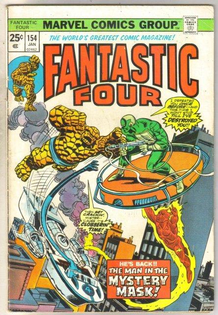 Fantastic Four #154 comic book very good 4.0