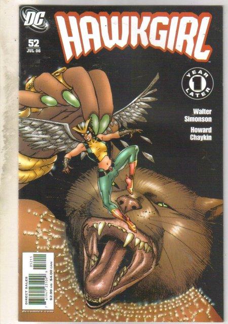Hawkgirl #52 comic book mint 9.8