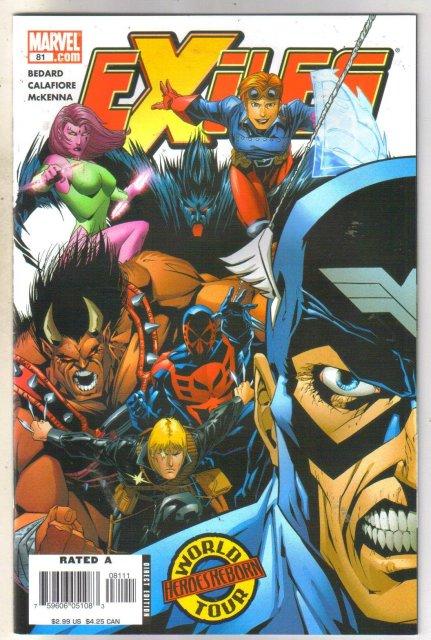 Exiles #81 comic book near mint 9.4