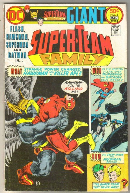 Super-Team Family #3 comic book very good 4.0