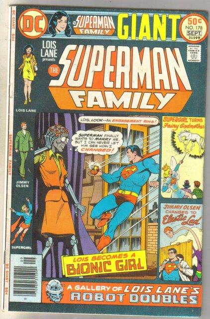 Superman Family #178 comic book very good 4.0