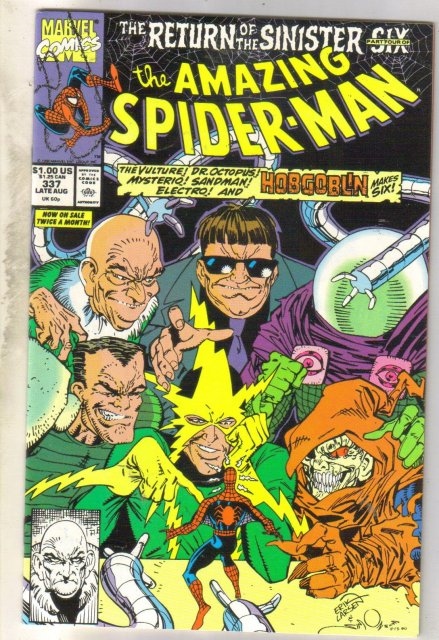 Amazing Spider-man #337 comic book near mint 9.4