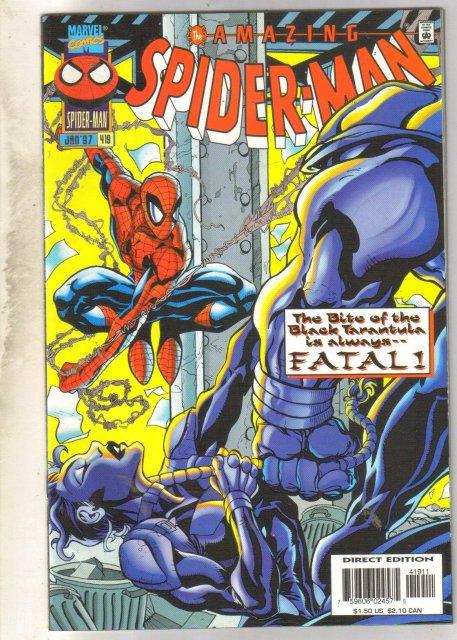 Amazing Spider-man #419 comic book near mint 9.4