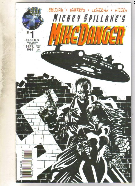 Mickey Spillane's Mike Danger #1 comic book near mint 9.4