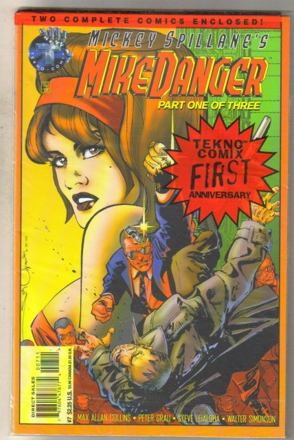 Mickey Spillane's Mike Danger #7 comic book unopened mint 9.8