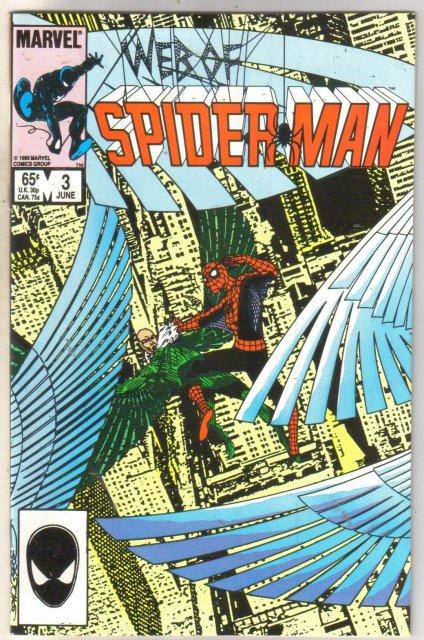Web of Spider-man #3 comic book near mint 9.4