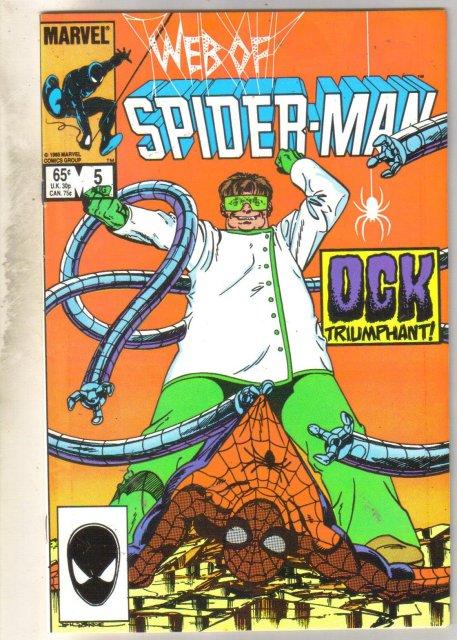 Web of Spider-man #5 comic book near mint 9.4