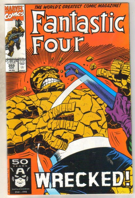 Fantastic Four #355 comic book mint 9.8