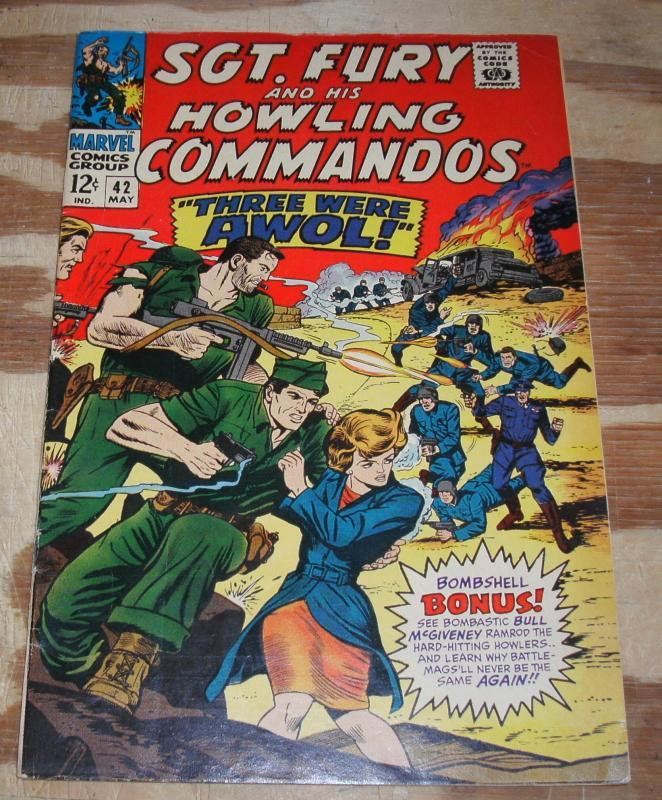 Sgt. Fury and His Howling Commandos #42  fine/very fine 7.0