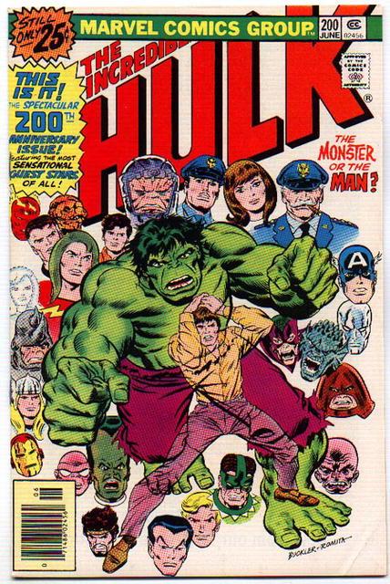 vf 8.0 Incredible Hulk comic #200