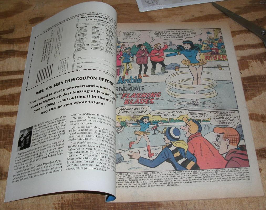 Archie at Riverdale High #14 near mint 9.4