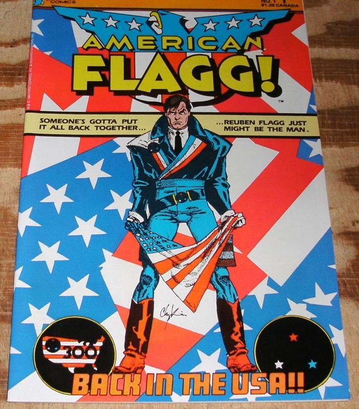 American Flagg #1  near mint + 9.6