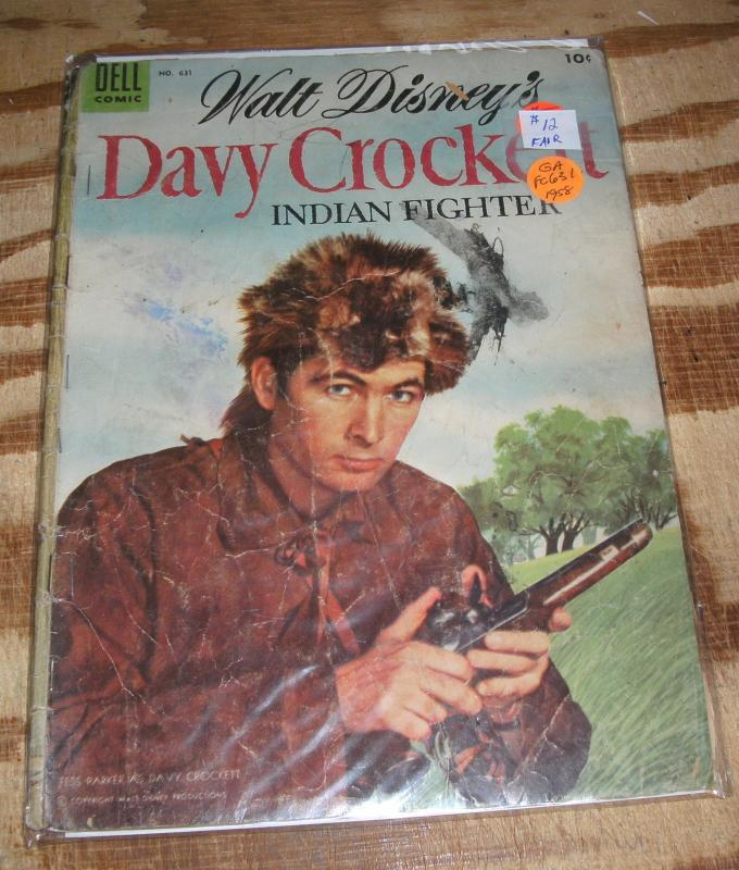 Dell Four Color #631 Davy Crockett Indian Fighter comic book fair 1.5