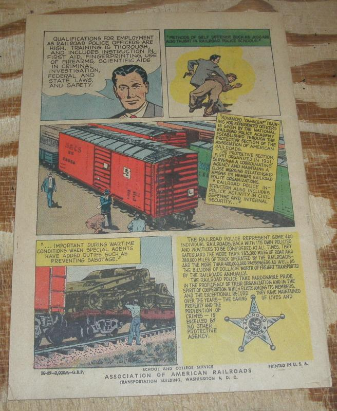 Special Agent railroad detective promotional comic book