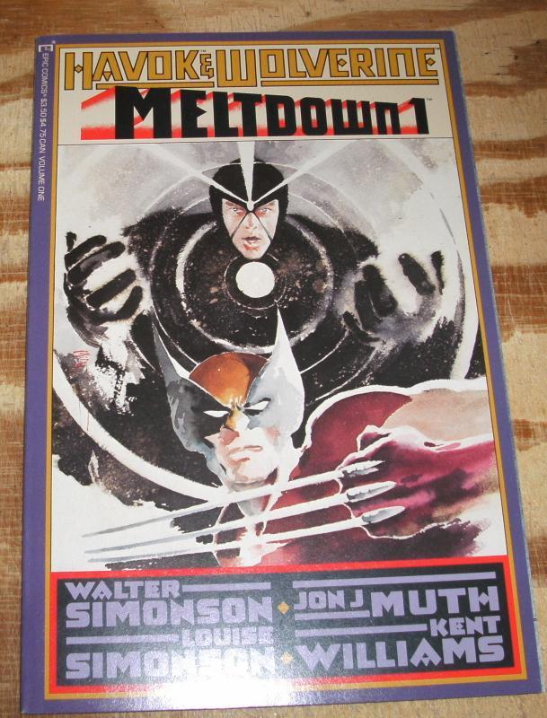 Havok & Wolverine Meltdown #1 near mint/mint 9.8