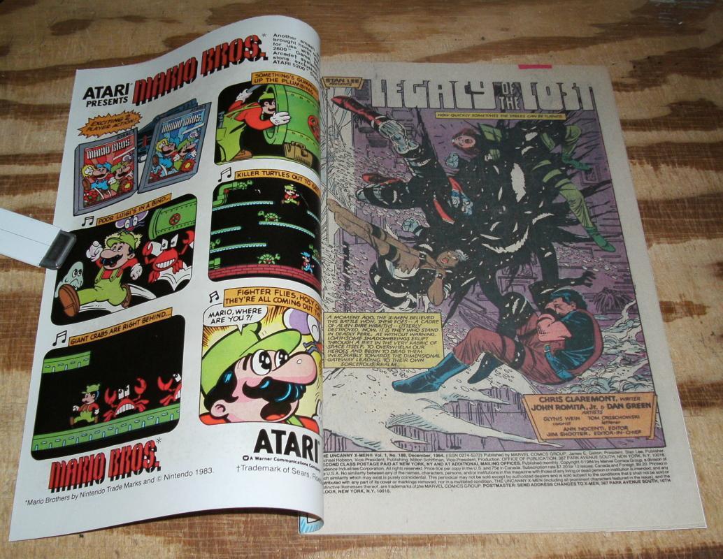 Uncanny X-men #188 comic book near mint 9.4