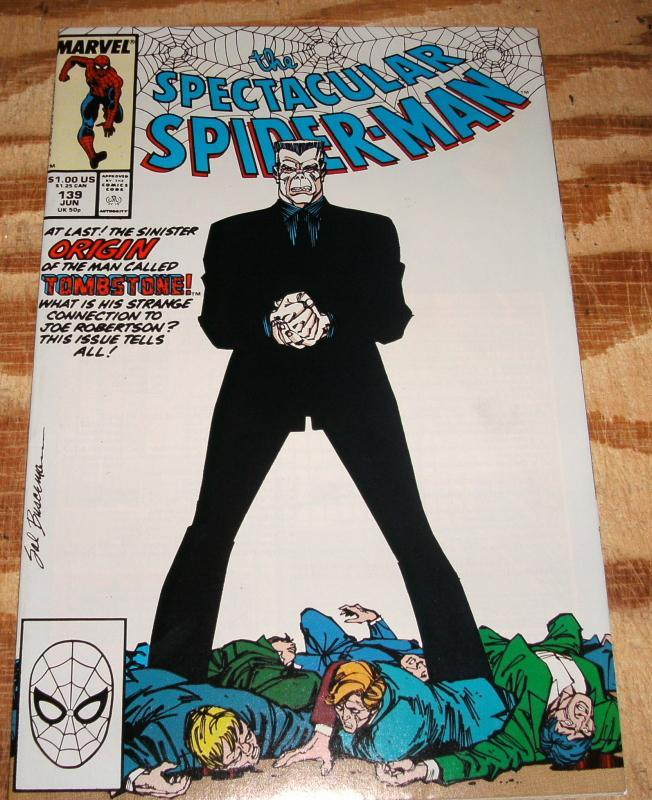 Spectacular Spider-man #139 near mint + 9.6