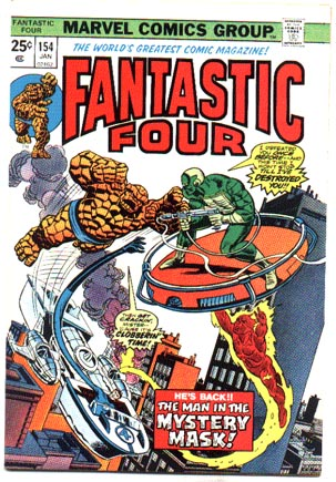 Fantastic Four #154 comic book vf/nm 9.0
