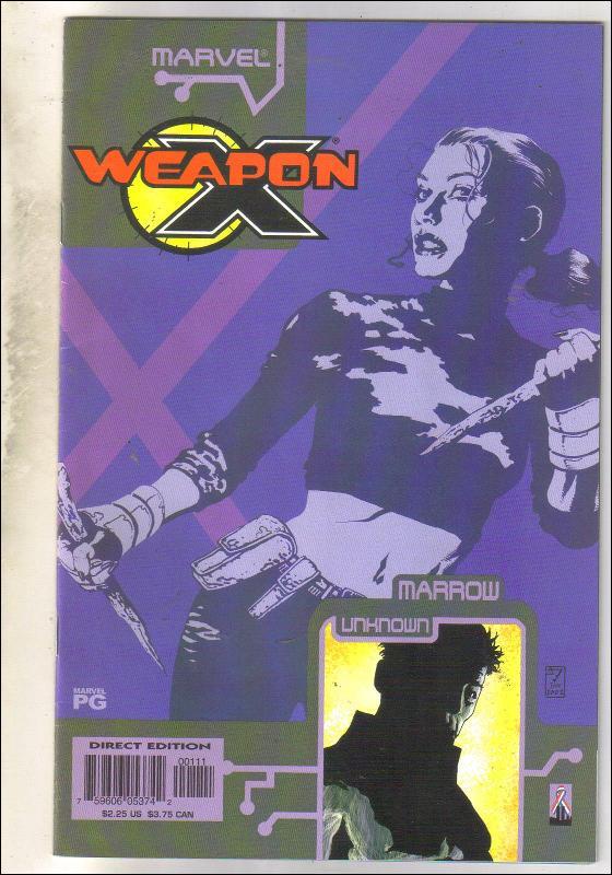 Weapon X The Draft-Marrow #1 comic book near mint 9.4