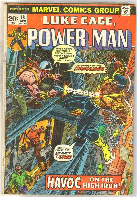 Luke Cage Power Man #18 comic book very good/fine 5.0