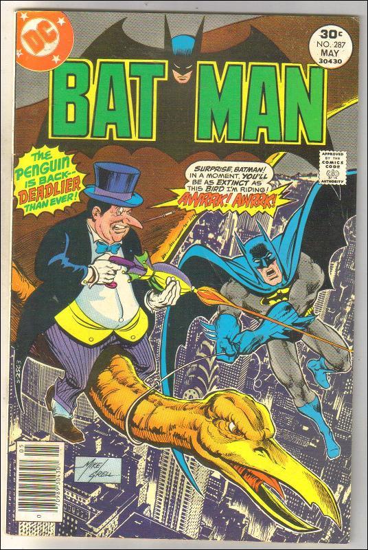 Batman #287 comic book fine 6.0