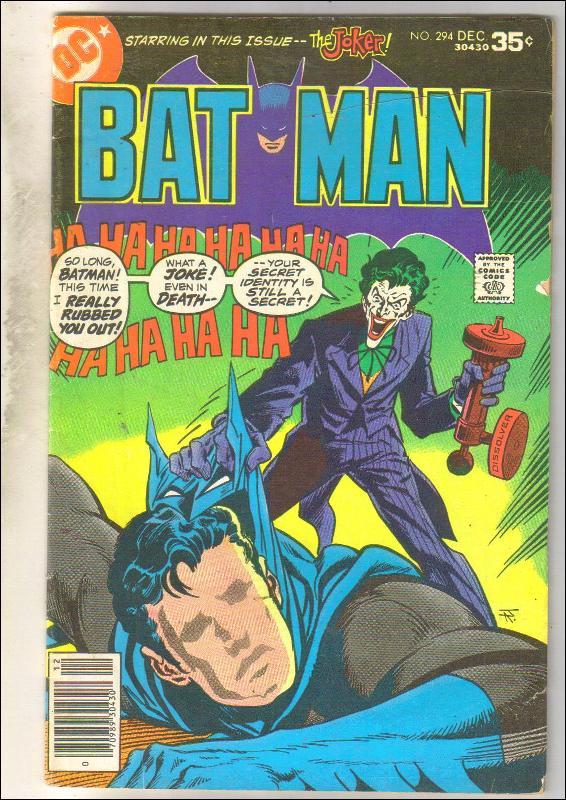 Batman #294 comic book very good/fine 5.0