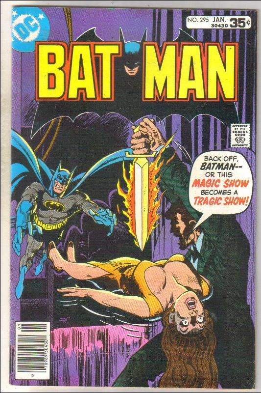 Batman #295 comic book fine/very fine 7.0