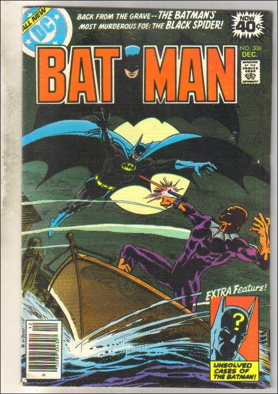 Batman #306 comic book very good/fine 5.0