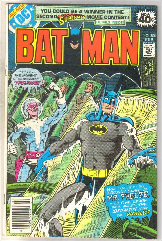 Batman #308 comic book very fine 8.0