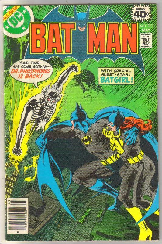 Batman #311 comic book fine 6.0