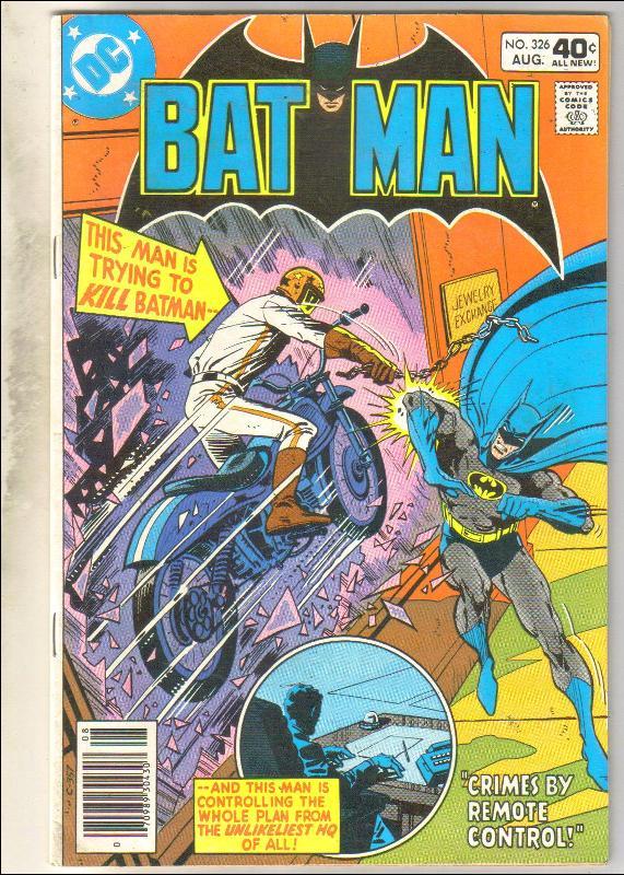 Batman #326 comic book fine 6.0