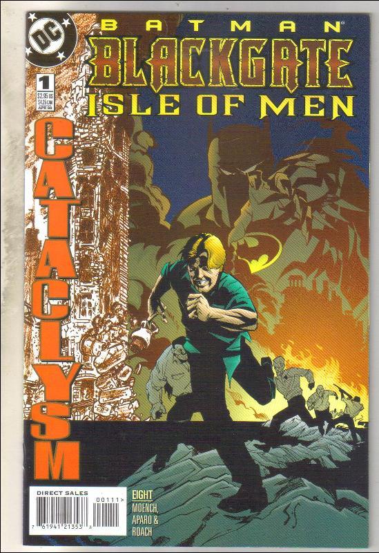 Batman Blackgate Isle of Men comic book  near mint 9.4