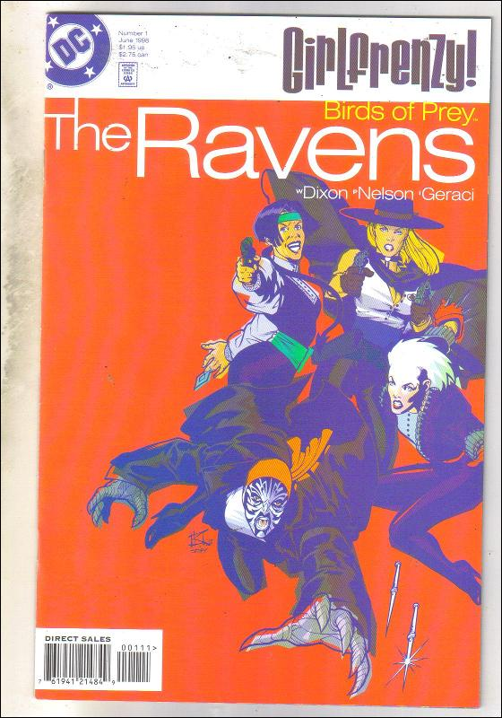 Birds of Prey The Ravens #1 comic book near mint 9.4
