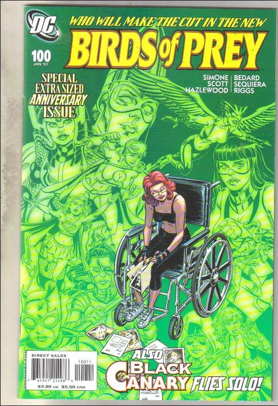 Birds of Prey #100 comic book near mint 9.4