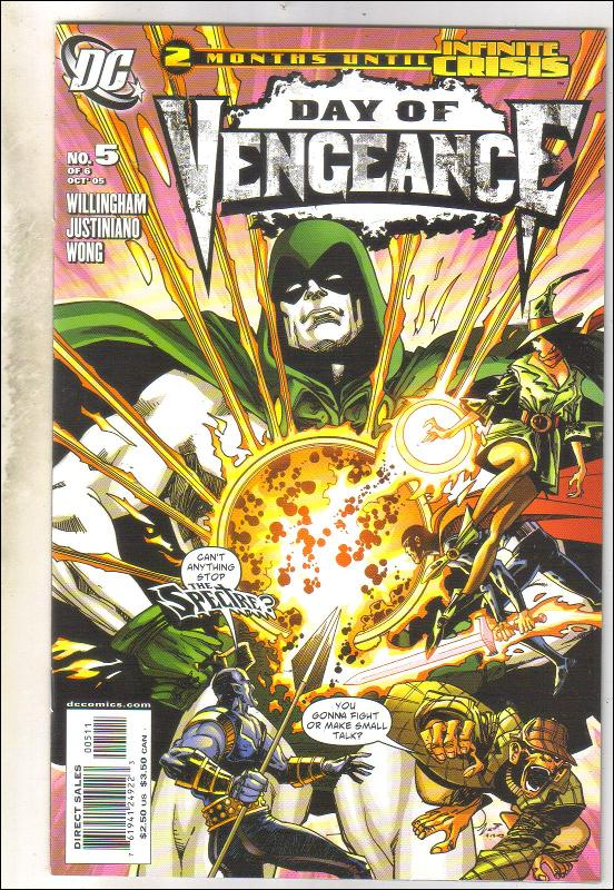 Day of Vengeance #5 with Spectre comic book mint 9.8