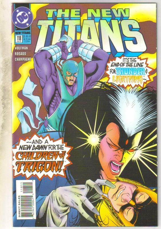 The New Titans #118 comic book near mint 9.4