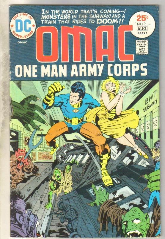 Omac One Man Army #6 comic book very good/fine 5.0