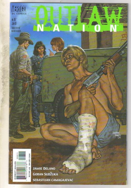 Outlaw Nation #8 Vertigo comic book near mint 9.4