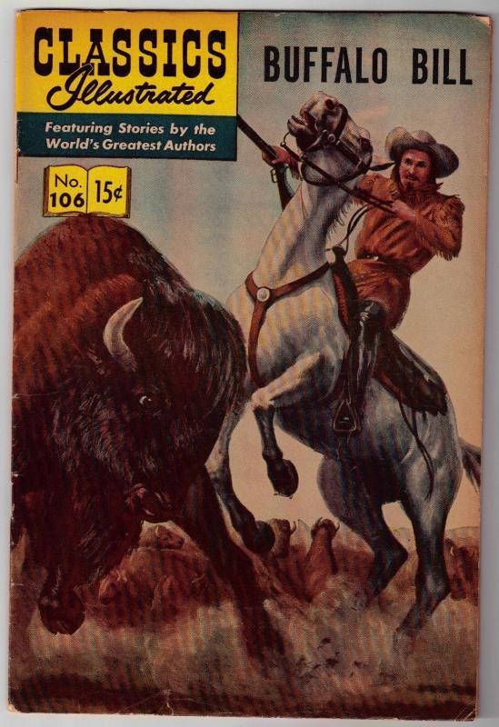 Classics Illustrated #106 Buffalo Bill comic book very good/fine 5.0 HRN #166